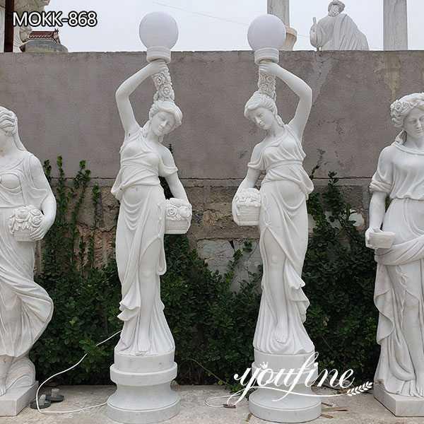 Large White Marble Lady Lamps Home Decor Factory Supply MOKK-868