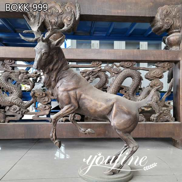 Life Size Bronze Deer Statue Table Decor for Sale BOKK-999 (1)