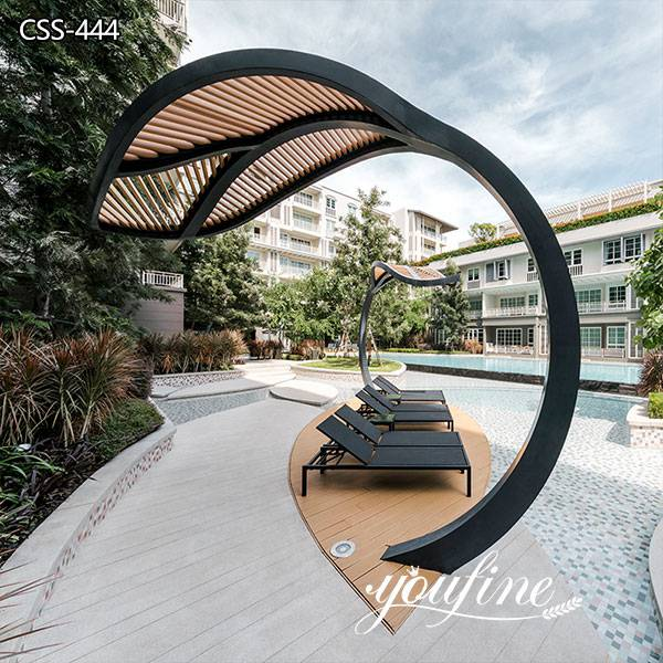 Modern Large Metal Leaf Sculpture Resort Hotel Decor