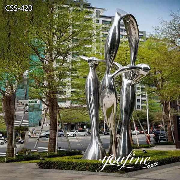 Plaza Decor Large Outdoor Metal Sculpture for Sale