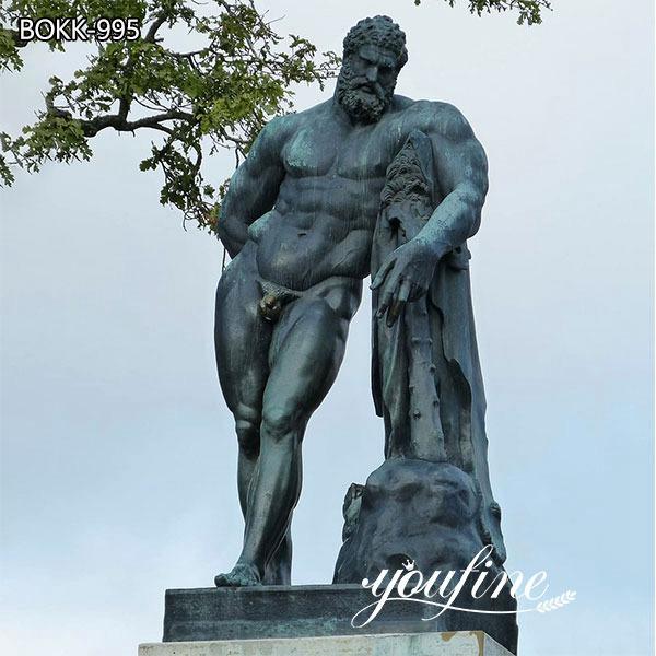 Roman Life Size Bronze Farnese Hercules Statue