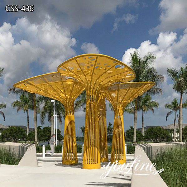 Seaside Large Outdoor Metal Tree Sculpture for Sale CSS-436