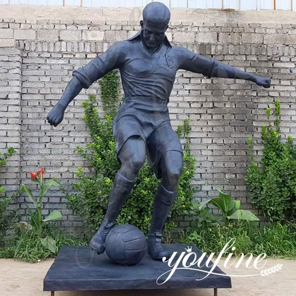 Life Size Bronze Football Player Statue Custom for Sale BOKK-555