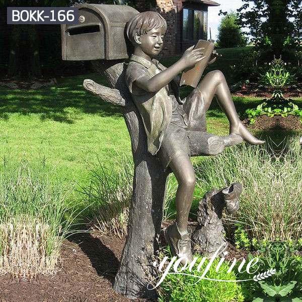 Custom Bronze Boy Statue Reading Book for Sale BOKK-166 (1)