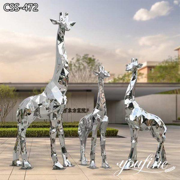 Large Geometric Metal Giraffe Sculpture Square Decor Factory Supply