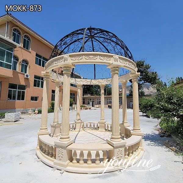 Large Outdoor Marble Gazebo Grand Hotel Decor