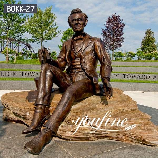 Life Size Famous Bronze LincIon Sculpture Custom Services