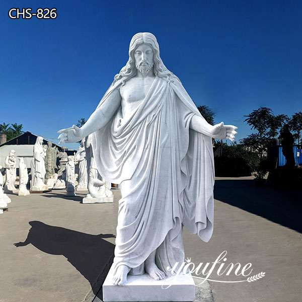 Life Size Marble Jesus Garden Statues for Sale Church Decor CHS-826