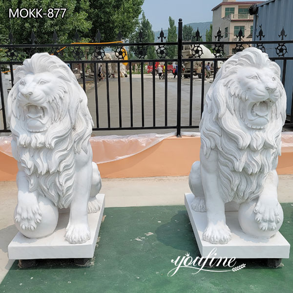 Natural Marble Lion Statues for Outside for Sale