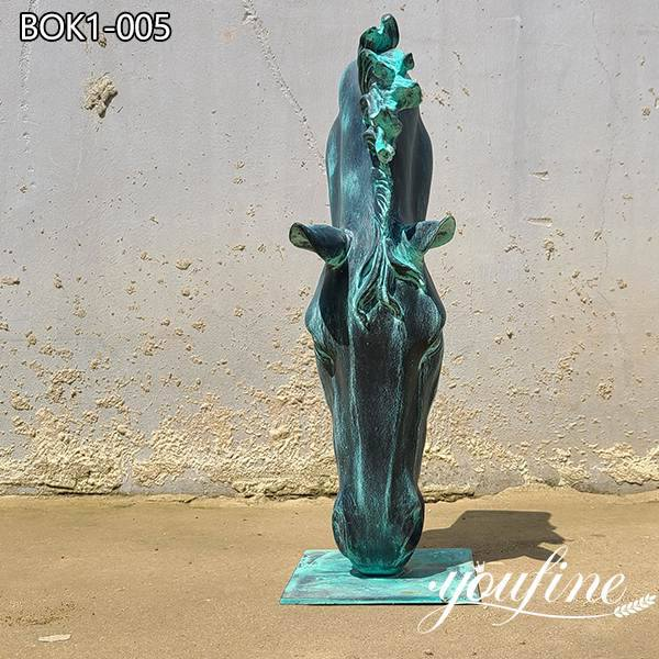 Patina Large Bronze Horse Head Statue for Sale BOK1-001
