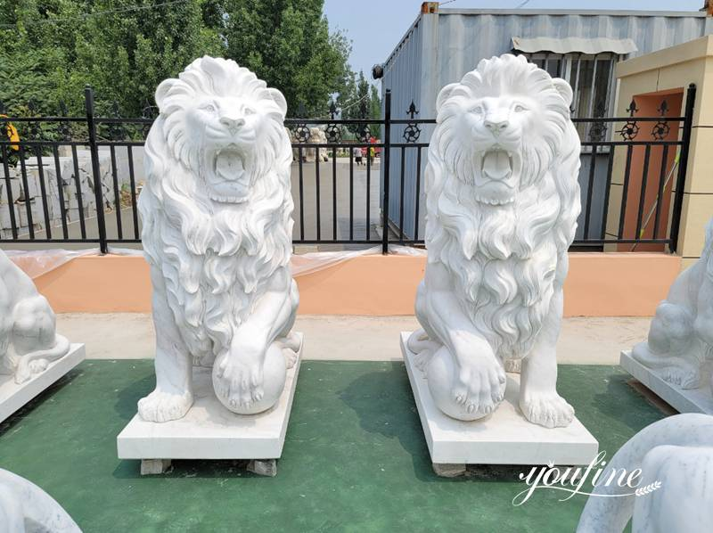 lion statue for driveway
