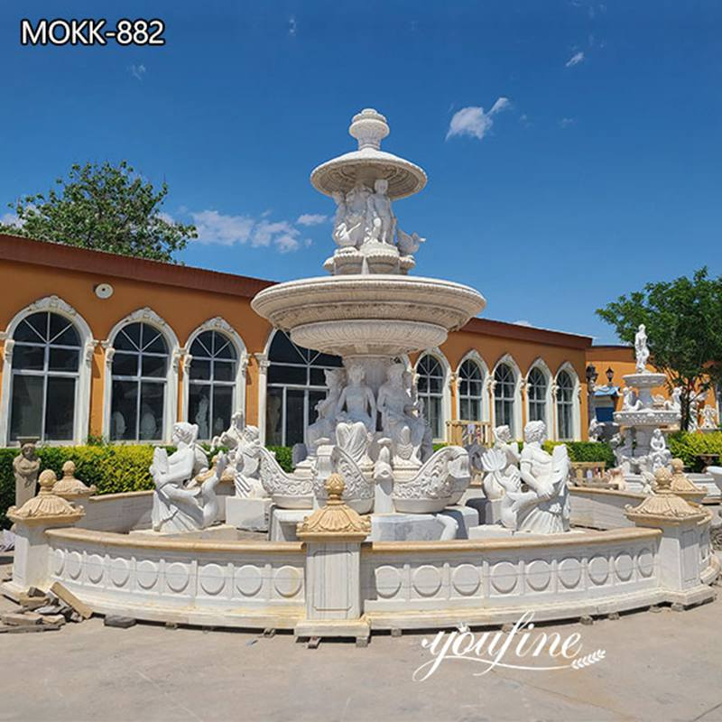 Hand Carved Marble Water Fountain Garden Decor for Sale MOKK-882