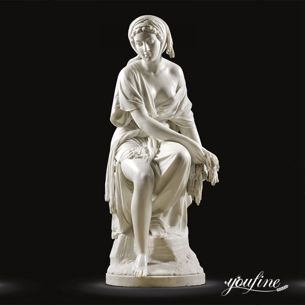 Natural White Marble Female Statue Classical Style for Sale MOKK-285 (1)