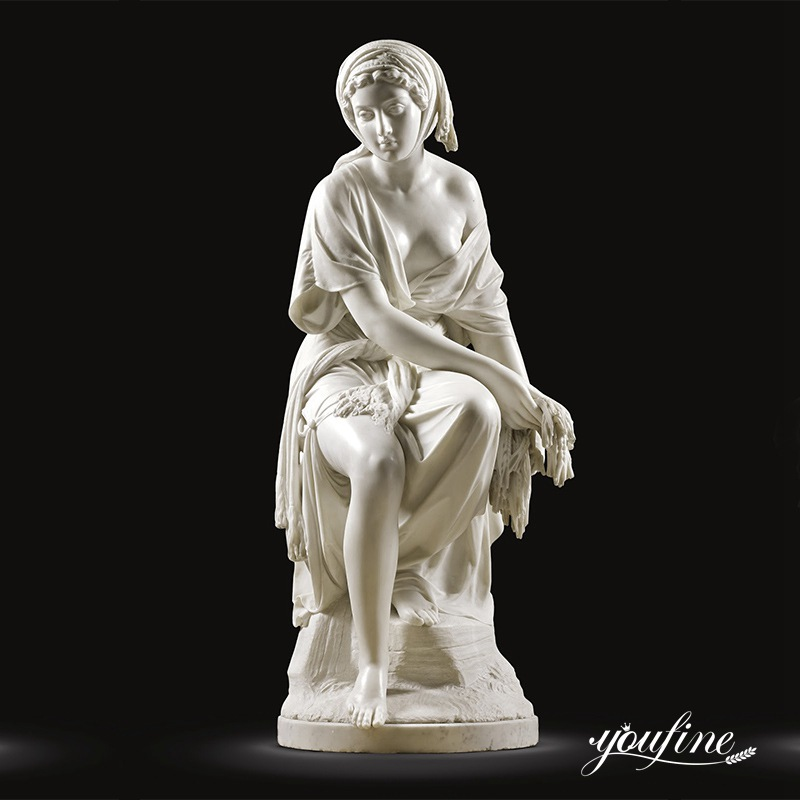 Natural White Marble Female Statue Classical Style for Sale MOKK-285