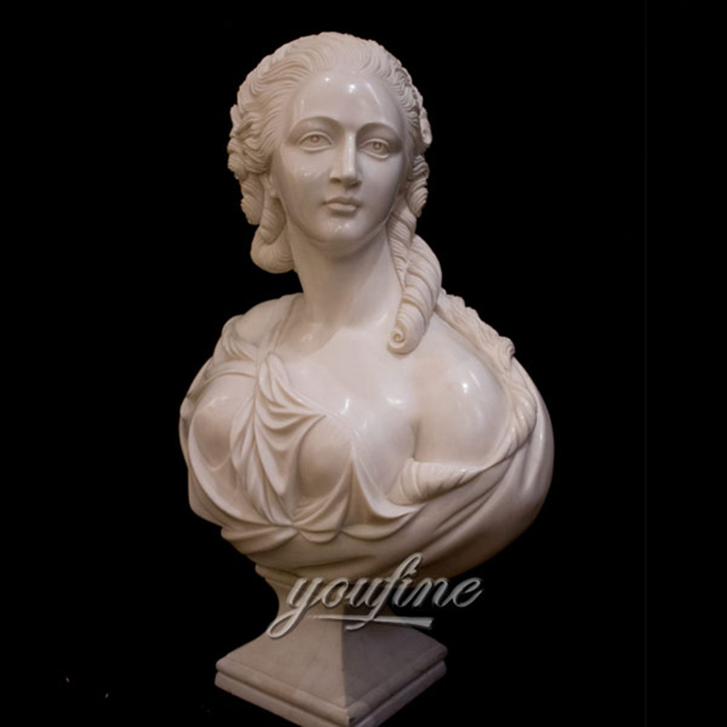 Remarkable Marble Sculpture Bust of a Noble Lady Factory Supply MOKK-235