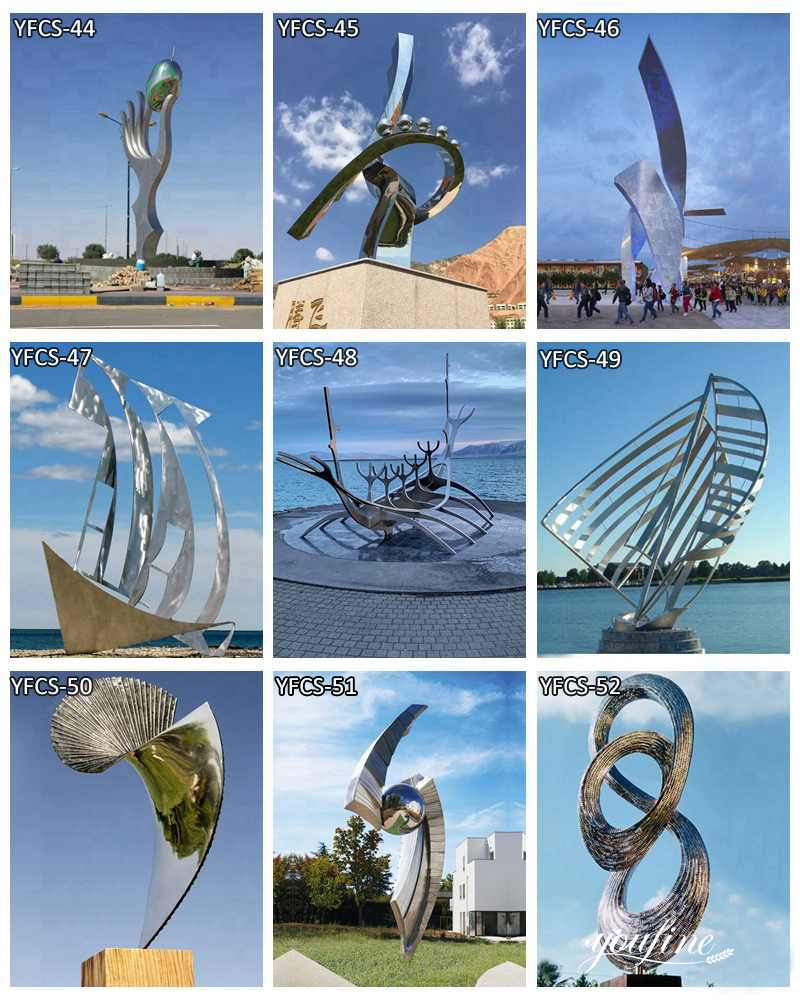 abstract metal outdoor sculpture