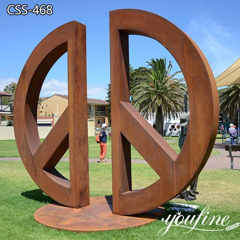 Abstract Corten Steel Sculpture Street Art Decor for Sale CSS-468