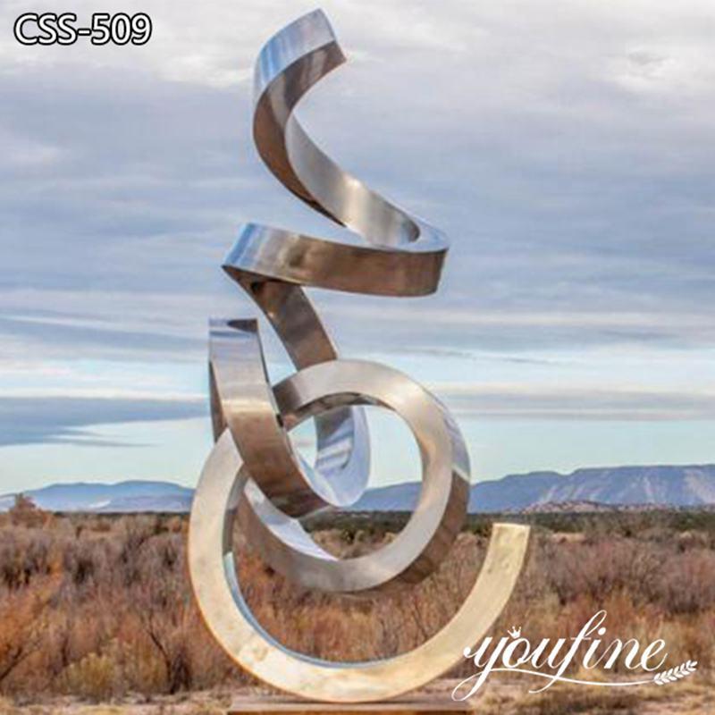 Modern Ribbon Abstract Metal Sculpture Garden Decor for Sale CSS-509