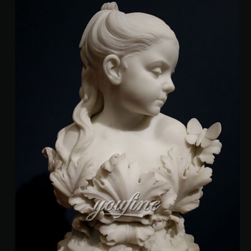 Antique Marble Bust Sculpture The Infant Psyche Factory Supply MOKK-221
