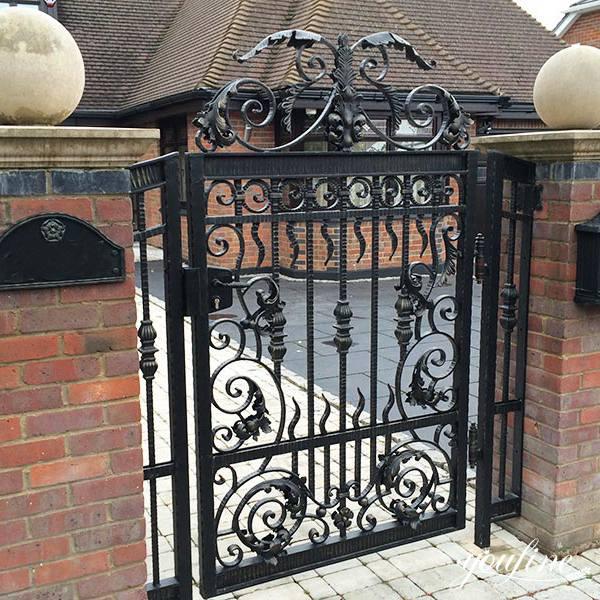 Vintage Ornamental Wrought Iron Driveway Gates Outdoor Design for sale IOK-189