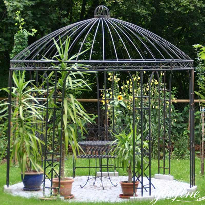 Unique Wroght Iron Gazebo Home Garden Decor for Sale IOK-107